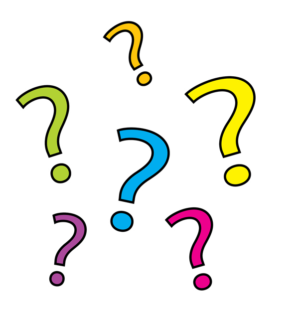 Yellow Question Mark Over - Question Mark Clipart