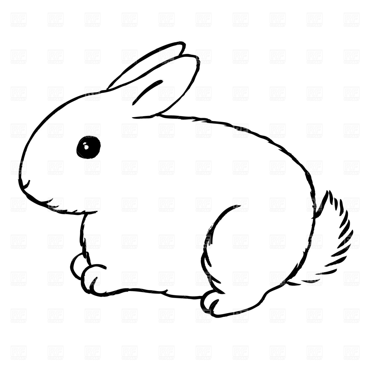 Bunny clipart black and white - Rabbit Clipart Black And White