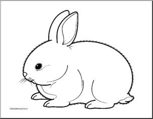 Bunny Rabbit Clip Art Rabbit Clipart Black And White