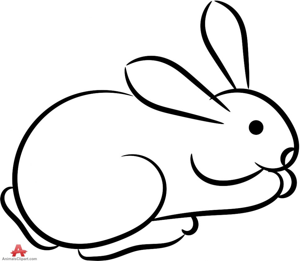 Coloring:Rabbit Clipart Black And White Pencil In Color Rabbits Book Alan  Baker Bunny Outline