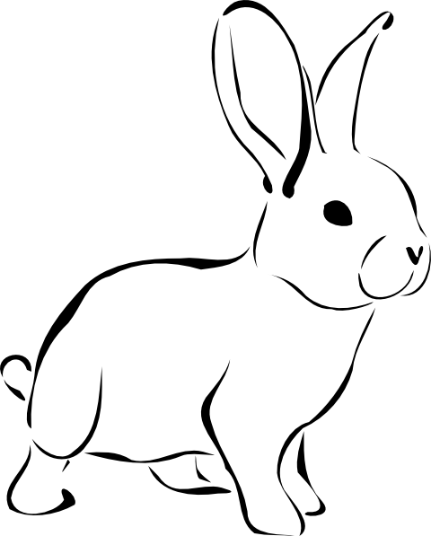 rabbit clipart black and white white rabbit clip art at clker vector clip  art online space clipart