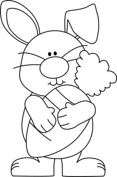 White clipart easter bunny #14