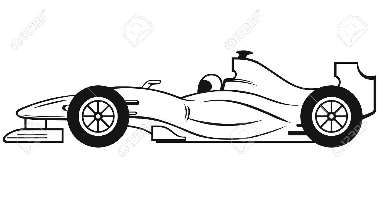 Race Car Clipart Black And ..
