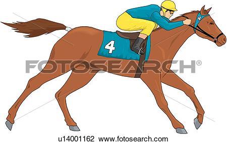 Race Horse. ValueClips Clip Art