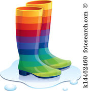 Puddle Clipart Rain Boot #12