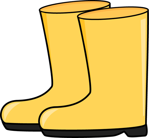 Rain Boots Clip Art Image - Pair Of Yellow Rain Boots.