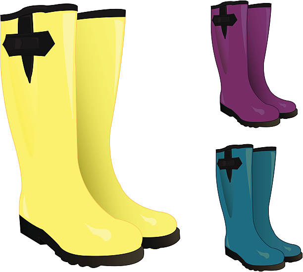 rain boots clipart 4