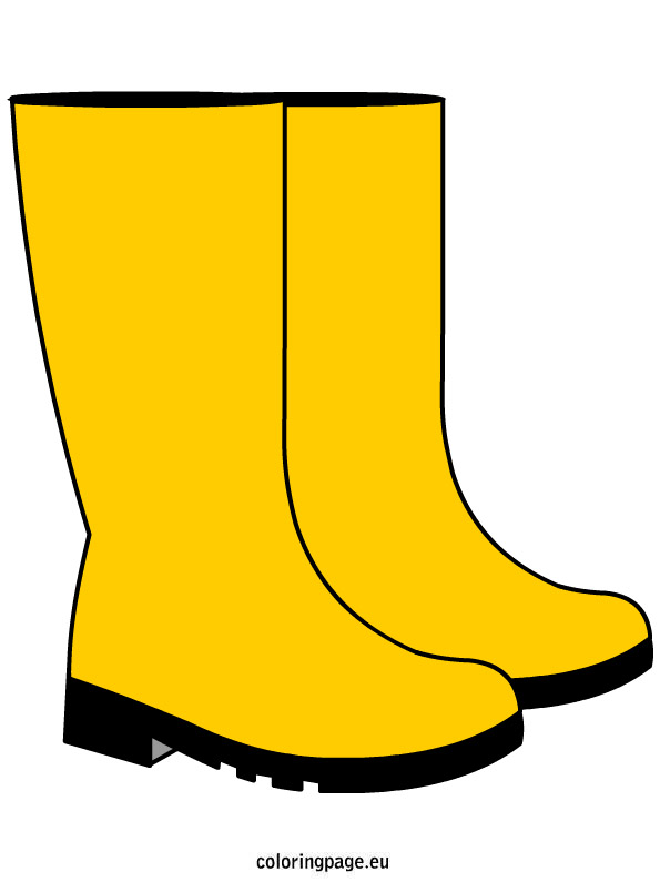 Rain Boots Coloring Page Clipart