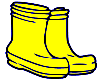 Rubber Boots Clipart Rain Boo - Rain Boots Clipart