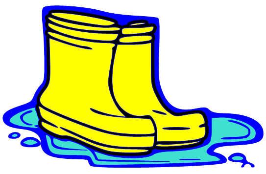 Boots clipart red rain boot #