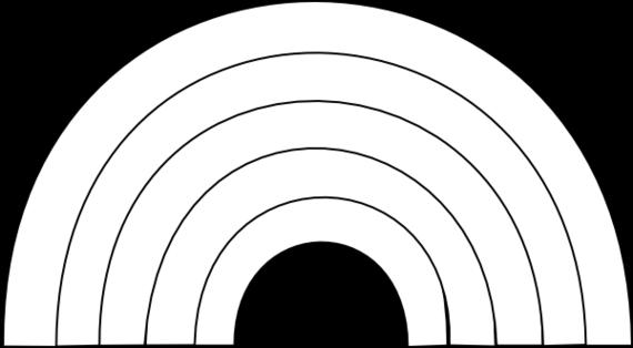 Rainbow black and white cartoon black and white rainbow clipart free to use clip art