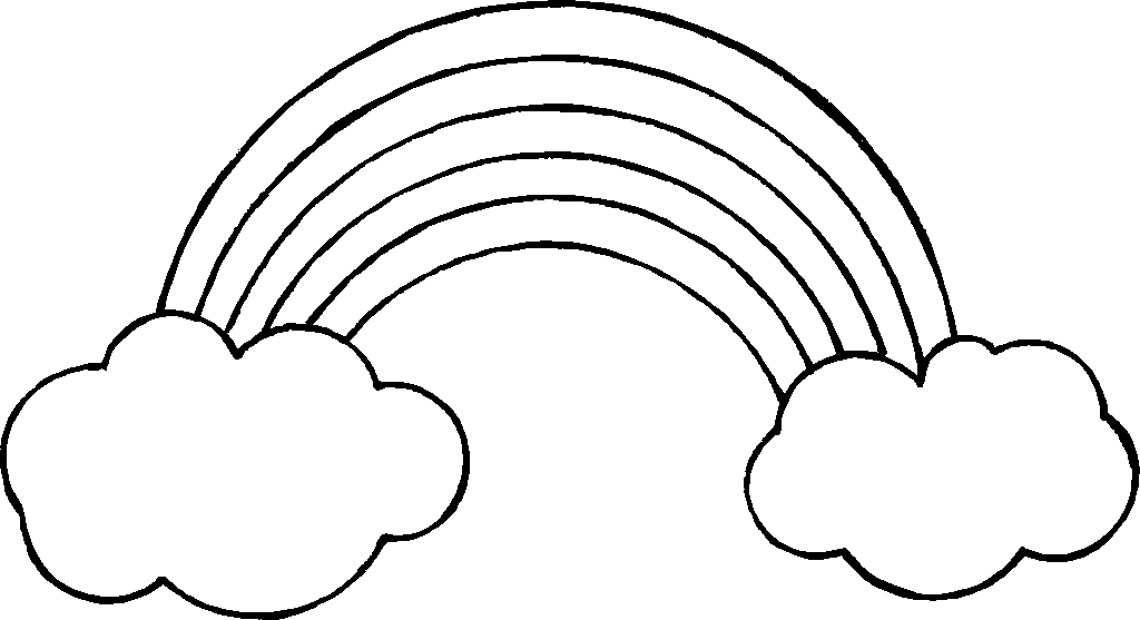 Rainbow black and white rainbow clipart free black and white hdclipartall