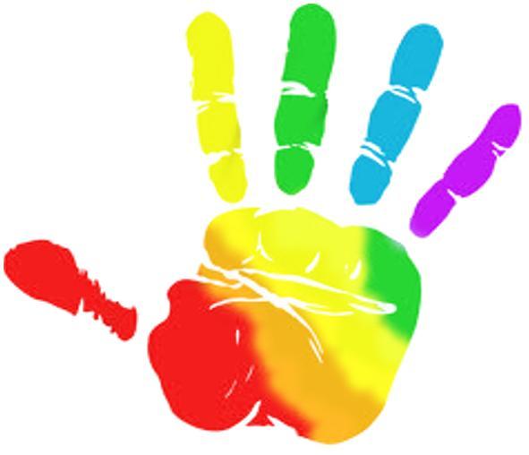 Rainbow hands clipart