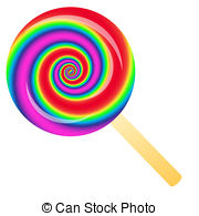 ... rainbow lollipop - Rainbow lollipop isolated on the white... ...