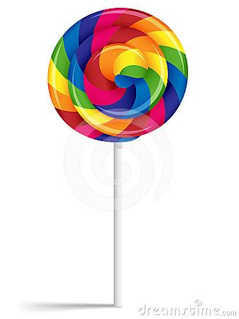 Rainbow Lollipops Clipart Swirly Rainbow Lollipop 24614165 Jpg