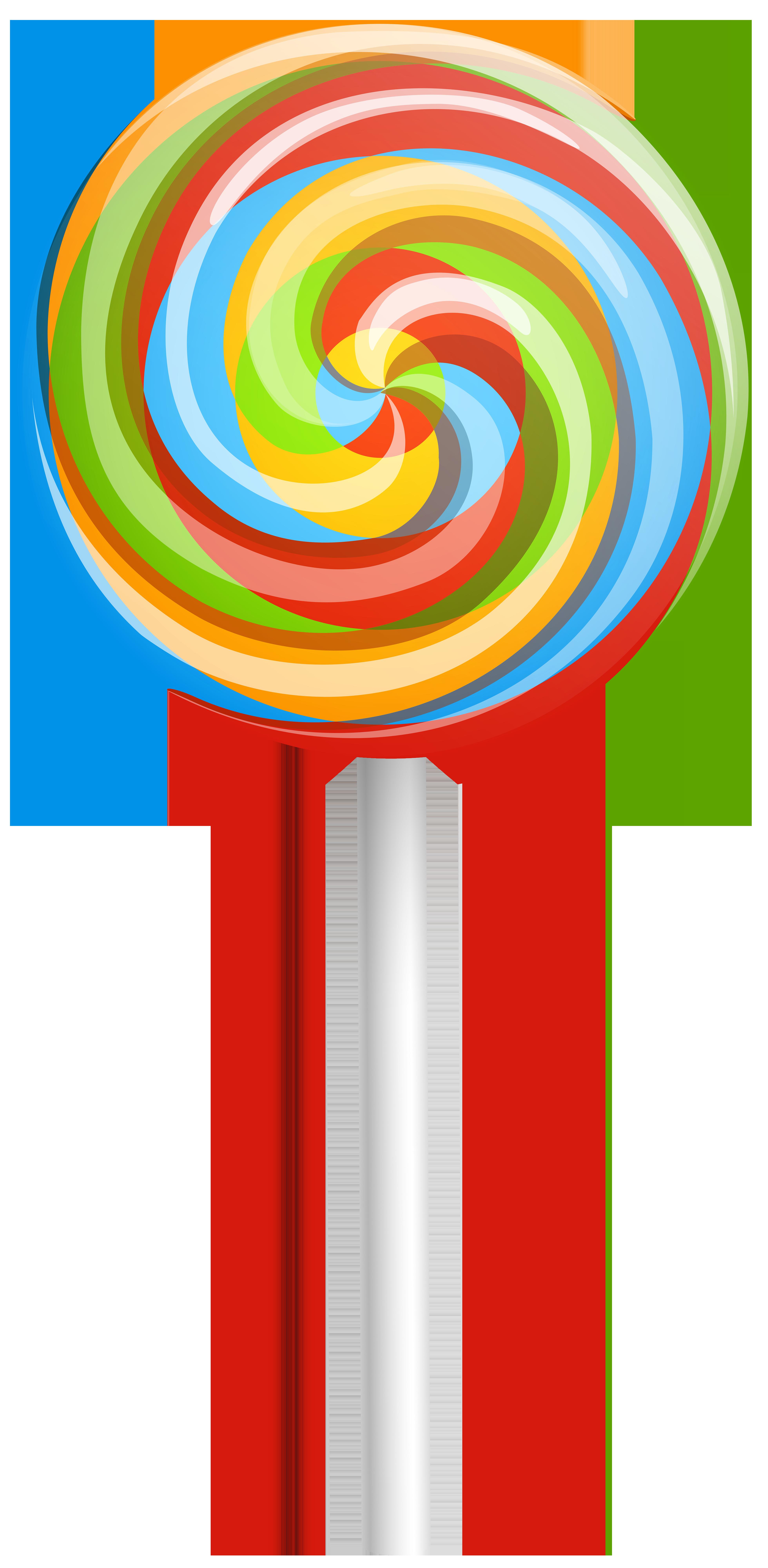 Rainbow swirl lollipop clip art image