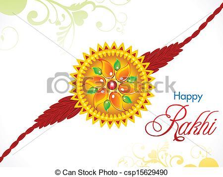 abstract raksha bandhan rakhi - csp15629490