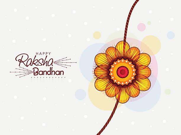 Beautiful rakhi for Raksha Bandhan celebration. vector art illustration