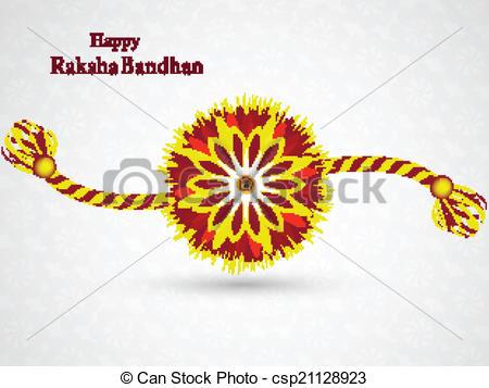 Beautiful Stylish Rakhi Design Vector