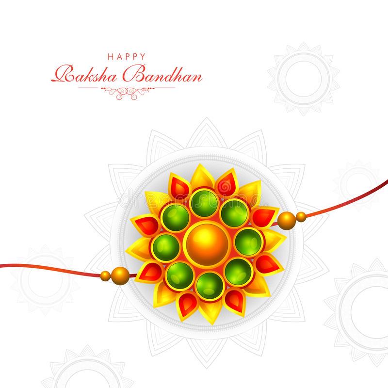 Download Greeting Card With Rakhi For Raksha Bandhan. Stock Illustration -  Illustration of colourful,