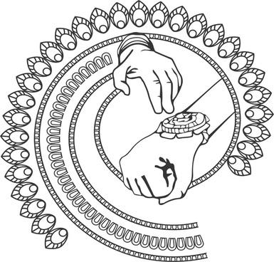 Rakhi Clipart artistic