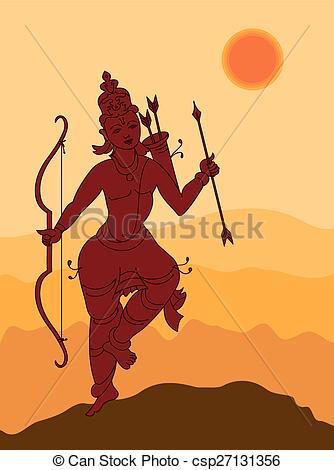Shadow Art, Lord Rama - csp27131356