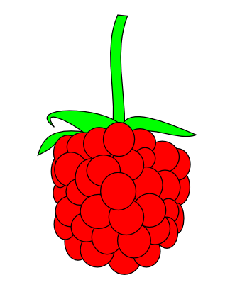 Free Simple Raspberry Clip Art