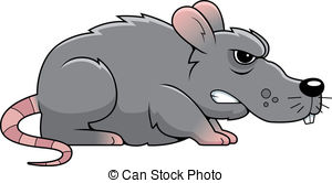 . hdclipartall.com Angry Rat - A cartoon gray rat with an angry expression.
