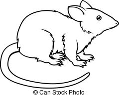 Rat Clipartby Yod6717/1,054 Stylised Rat Illustration - An Illustration Of  A Stylised.