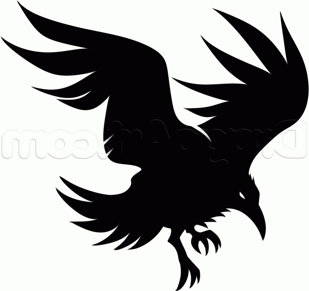 Raven Clipart Tribal Pencil And In Color Raven Clipart Tribal Regarding  Tribal Raven Tattoo Designs