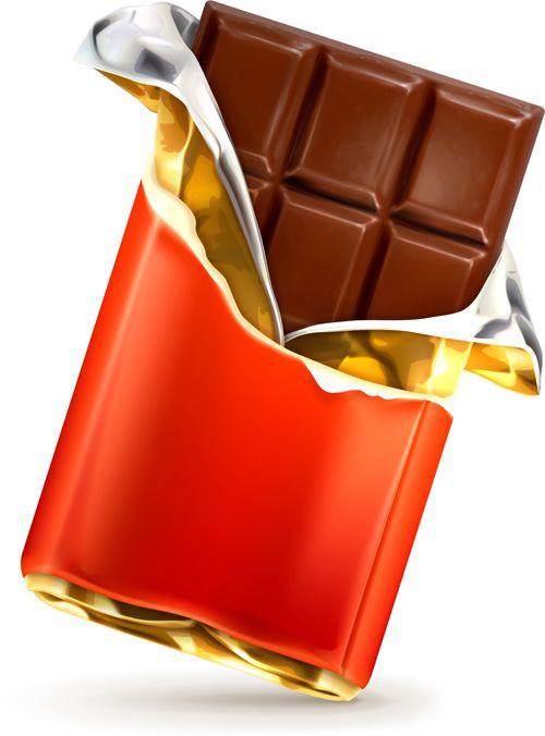 Realistic chocolate creative vector set 01 - Vector Food free download