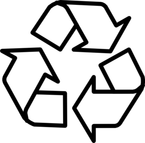 Recycle clipart black and .