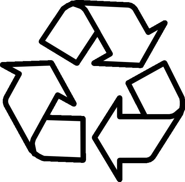 Recycling Symbol Outline Clip Art At Clker Com Vector Clip Art