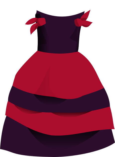 red dress clipart