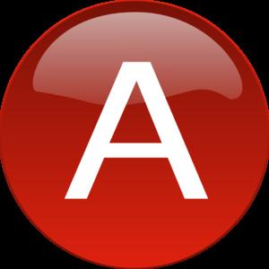 Red A Clip art