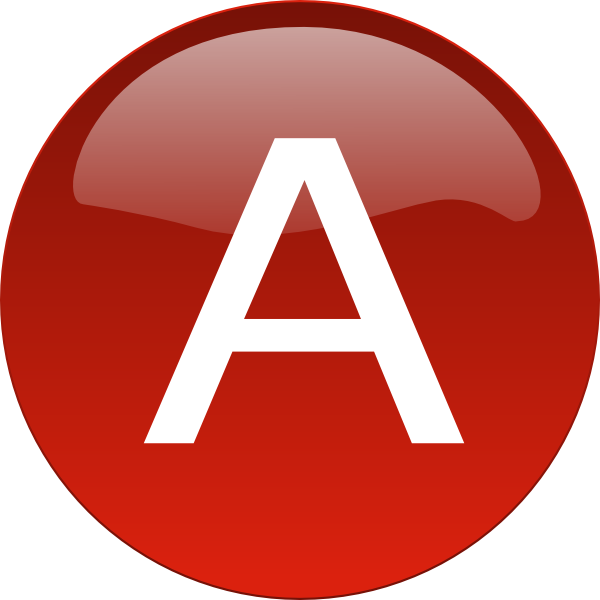 Red A svg