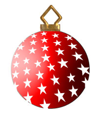 Red and White 3d Christmas Tree Ornament