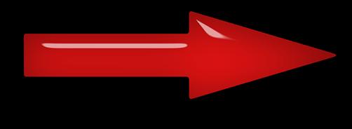 red arrow glass shadow