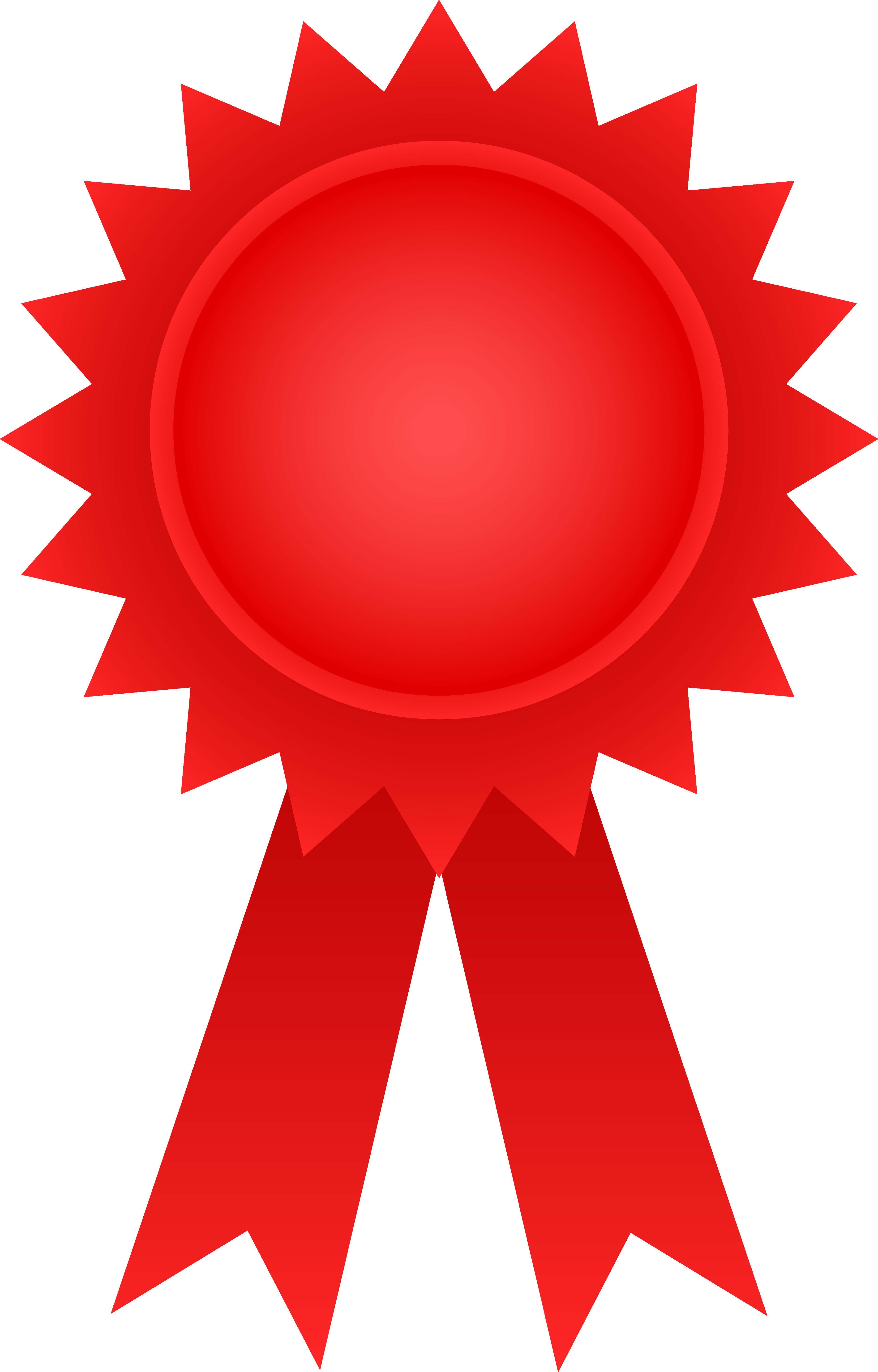 Red Award Ribbon - Free Clip .