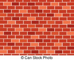 Red brick wall Vector Clip Artby ...