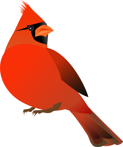 ... Red cardinal bird clip art ...