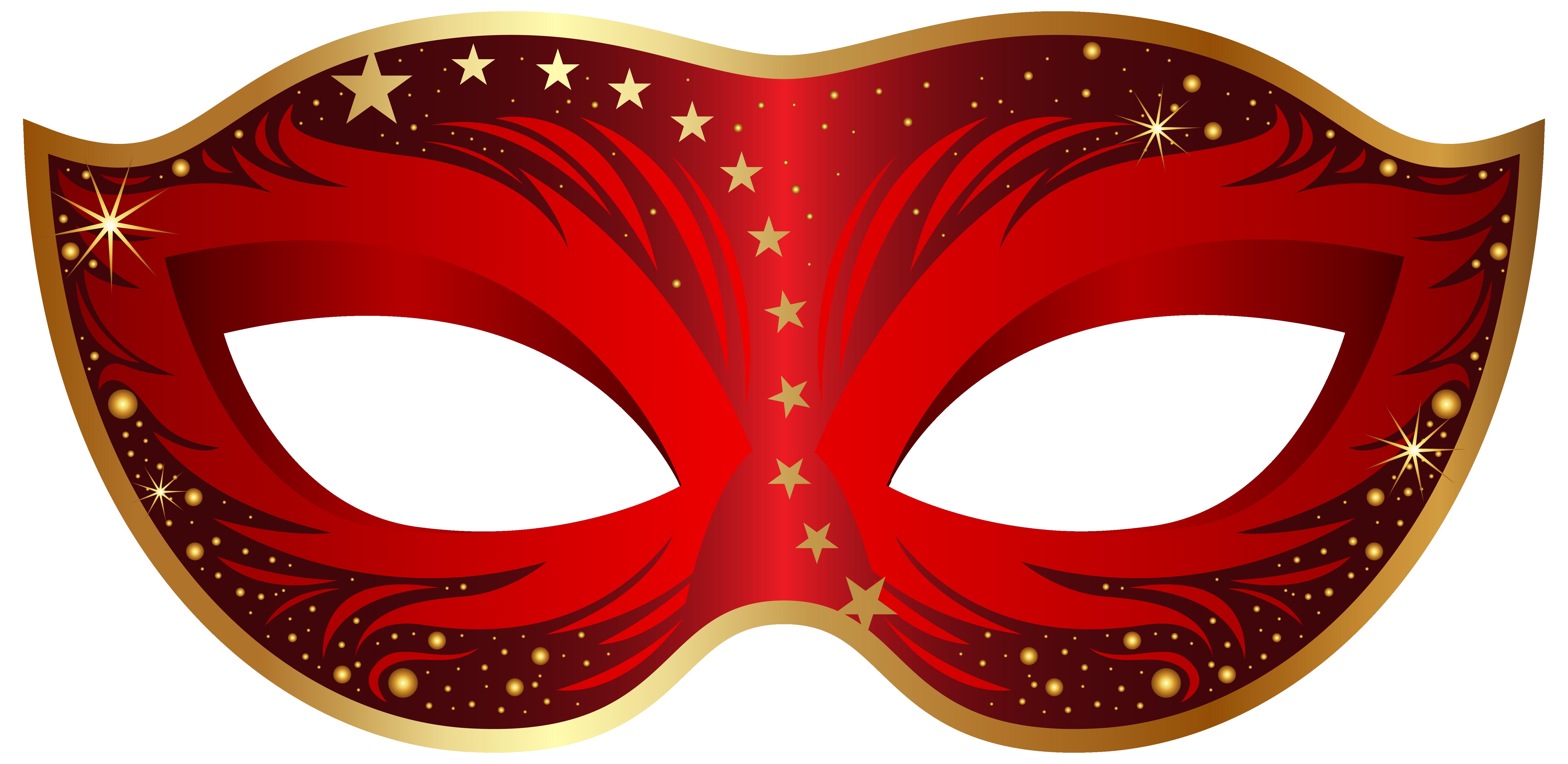 Red carnival mask clip art image