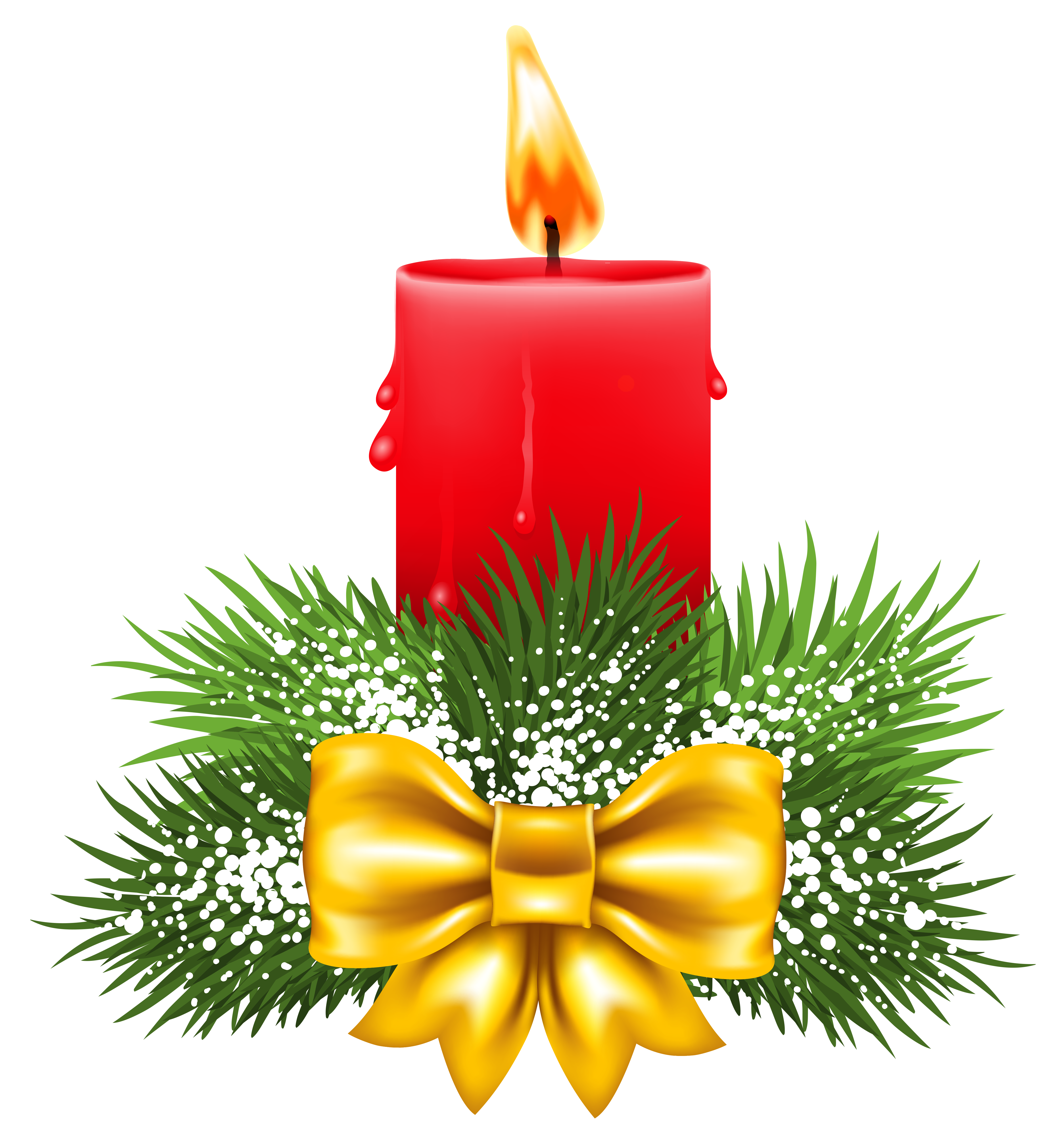 ... red christmas candle clip art ...