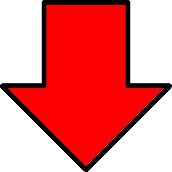 Red Down Arrow Clip Art At Clker Com Vector Clip Art Online Royalty