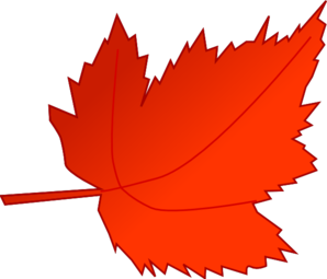 Red Leaves Clipart #1