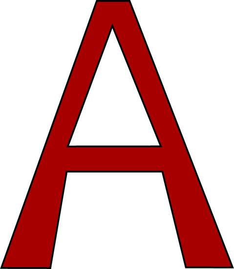 Red Letter A Clip Art - Red Letter A Image