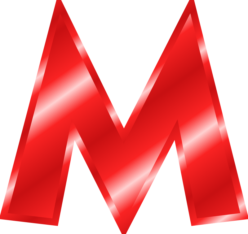 Red Letter M Clipart