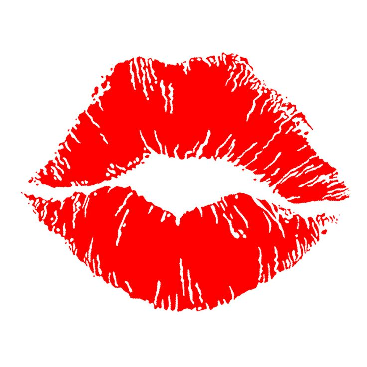Red lips and Clip art .