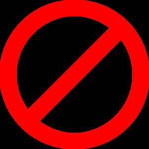 Red Not Sign Transparent Clip Art At Clker Com Vector Clip Art