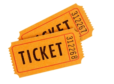 Red Raffle Tickets Clipart .